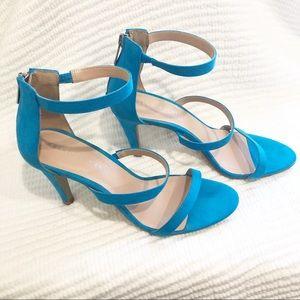 Bright blue Kelly & Katie high heel sandals 8.5